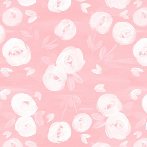 sweet peach florals - LARGE scale