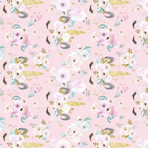 unicorn floral M pink rotate
