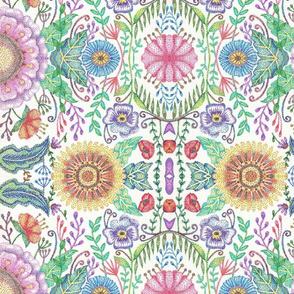 Flowers Pointillism