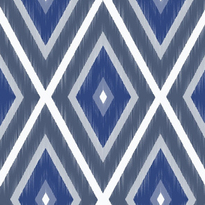 IKAT Bohemian Blues-Large