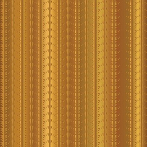 Gold Copper Vertical Stripes Vector Pattern Hand Drawn Background