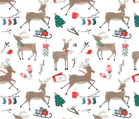 Reindeer Games fabric by shelbyallison on Spoonflower - custom fabric