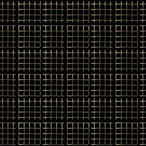 Gold Copper Geometric Chequered Mesh Vector Pattern Hand Drawn