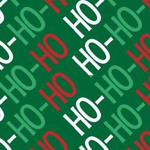 Christmas Santa Ho Ho Ho Cute Christmas Diagonal Red Green White 16-01