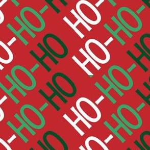 Christmas Santa Ho Ho Ho Cute Christmas Diagonal Red Green White 15
