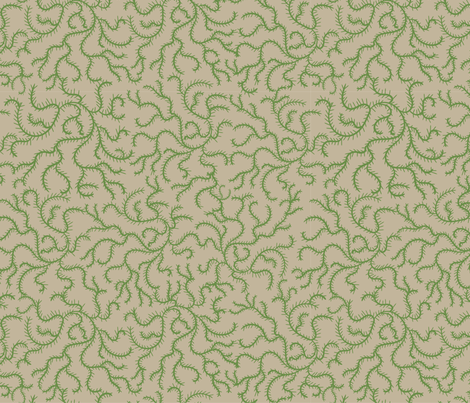 Green on Green Vines fabric by debbiejohnsonartist on Spoonflower - custom fabric