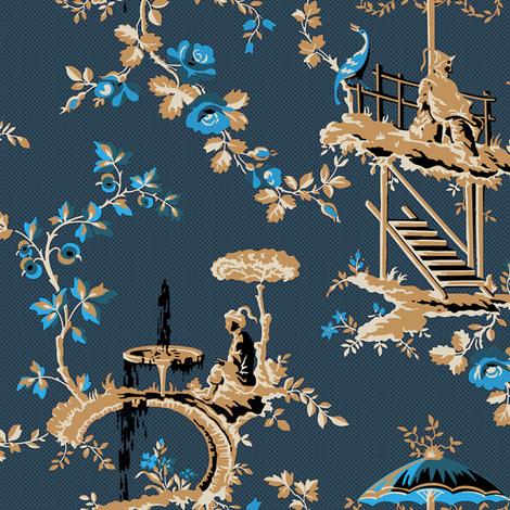 Chinoiserie Moderne 1b fabric by muhlenkott on Spoonflower - custom fabric
