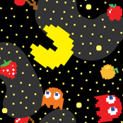 Pacman Pattern Abstract 2-01