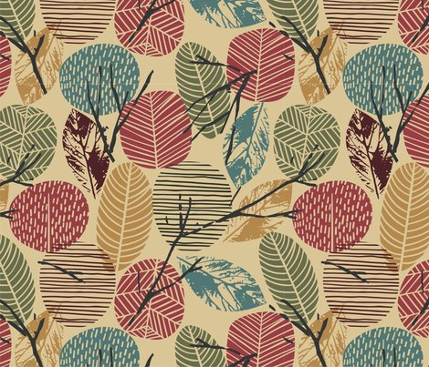 Leaves-twigs-winter-brown-gold-teal-01_shop_preview