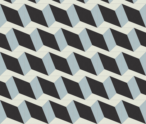 Blue + Black Diamond 4 fabric by the_outfoxed on Spoonflower - custom fabric