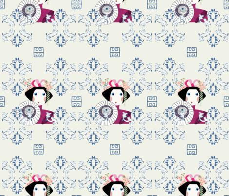 Porcelain decoration  fabric by lauren_mccrea on Spoonflower - custom fabric