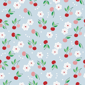blossom cherries // cherry, fruit, summer, sweet, blush