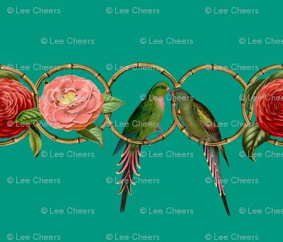 Parrakeet Love with Camellias