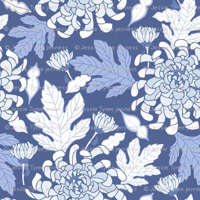 Chrysanthemum in Blue