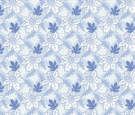 Chinoiserie 3 fabric by rootandbranchpaper on Spoonflower - custom fabric
