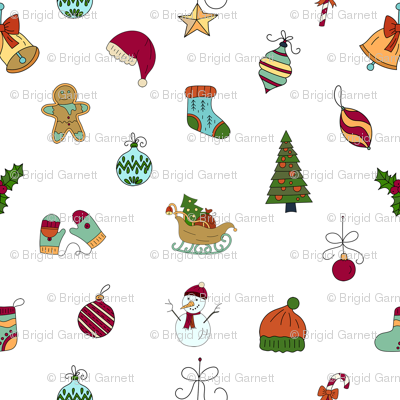 Christmas Sketches.Christmas Sketches Wallpaper Bags29 Spoonflower
