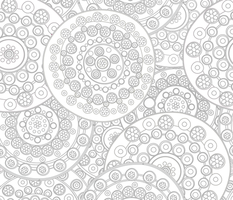 Color Me Circles in Circles fabric by fabric_is_my_name on Spoonflower - custom fabric