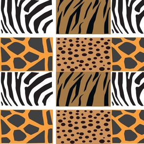 Animal Skins Blocks Mosaic Tile