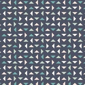 Coneflower Triangles - Dark