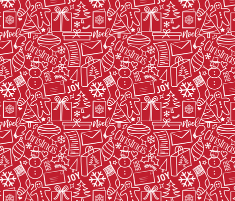 Crazy Christmas - Large fabric by whyitsme_design on Spoonflower - custom fabric