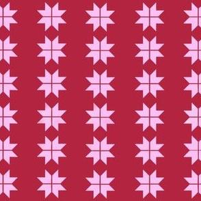 Red pink Christmas Swedish Stars
