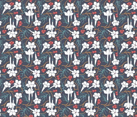 Wintry Woodland 2 fabric by rootandbranchpaper on Spoonflower - custom fabric