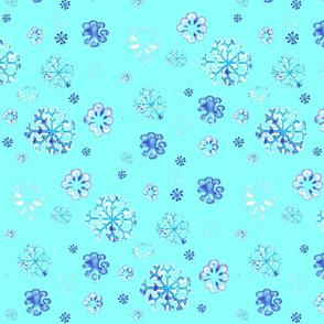 snow flurries on aqua