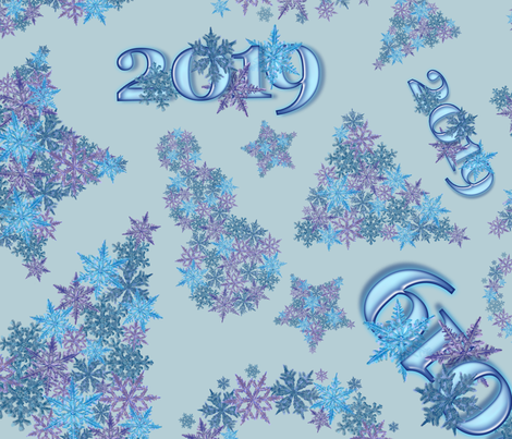SnowSymblsPttrnBlue fabric by nwolfgang on Spoonflower - custom fabric
