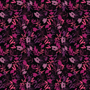 Tundraberry Fireweed and Ulu in Berry Black - Medium