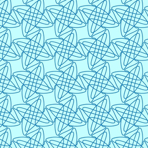 Blue tangles pattern