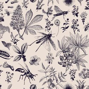 insect garden retro