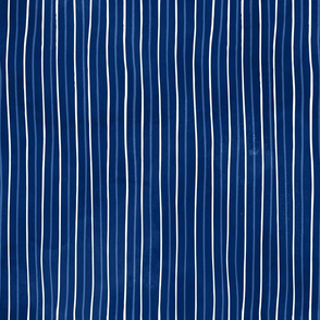 Blue watercolor stripe navy