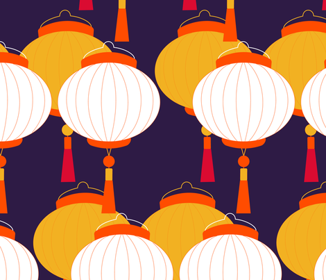 lampe chinoise one fabric by sissi-tagg on Spoonflower - custom fabric