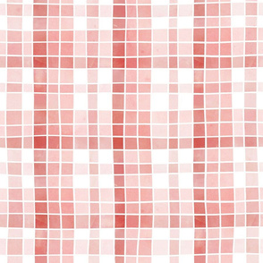 Pale pinks watercolour plaid