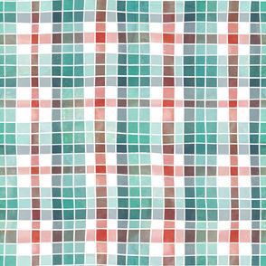Christmas mix watercolour plaid
