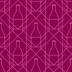 Champagne art deco pattern