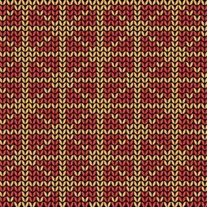 fair isle grid red