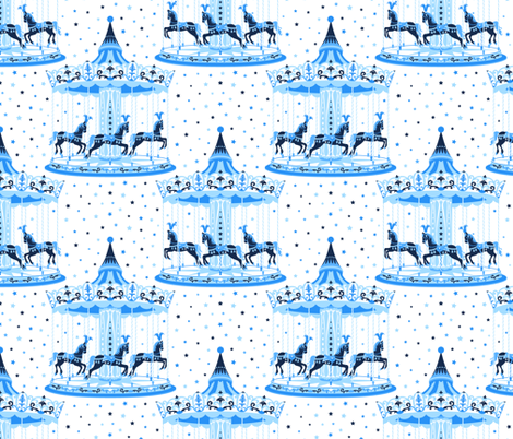Merry-go-round fabric by ybt on Spoonflower - custom fabric