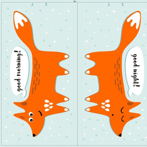 cut & sew fox pillow