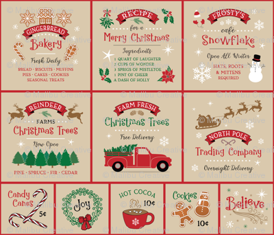 Farmhouse Christmas Panel
