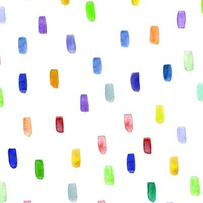 Watercolor colorful confetti #3 || brushstroke pattern for nursery, kids, holidays