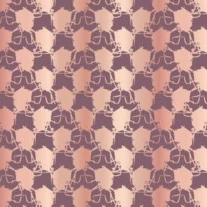 Metallic Rose Gold Polka Dots Pattern
