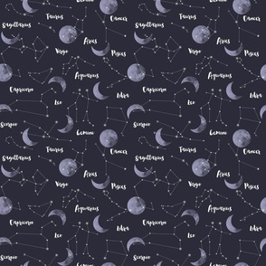 Moon & Constellation by Night