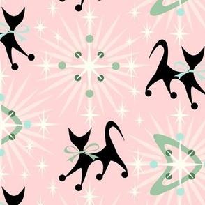 Retro Cats, Boomerangs, and Starbursts
