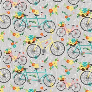 floral bicycle pattern