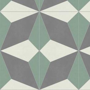 Green + Gray Diamond 2