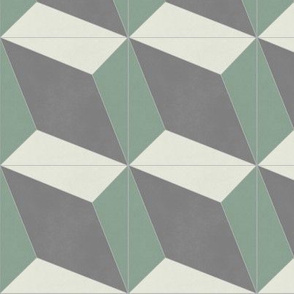 Green + Gray Diamond 1