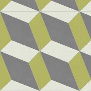 Mustard + Gray Diamond 1