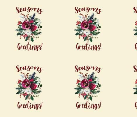 "Season's Greetings 18"" repeat  fabric by theartwerks on Spoonflower - custom fabric"