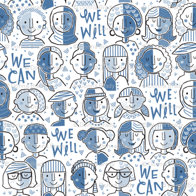We Can We Will Blue - Large Scale